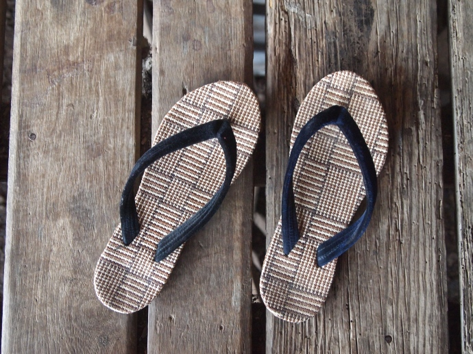 the flip-flops I bought after mine were stolen