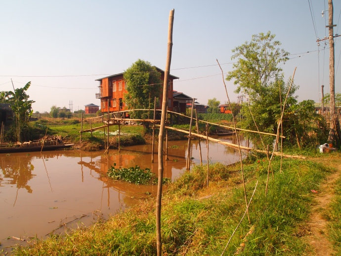 village near Nga Phe Chaung Monastery