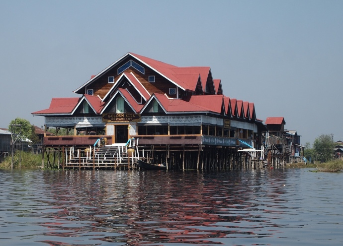 restaurant on Inle Lake