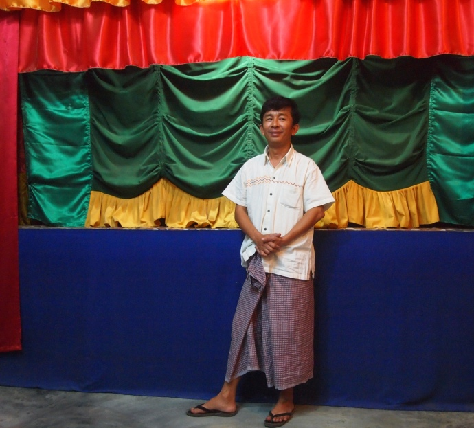 the puppeteer at the Aung Puppet Show
