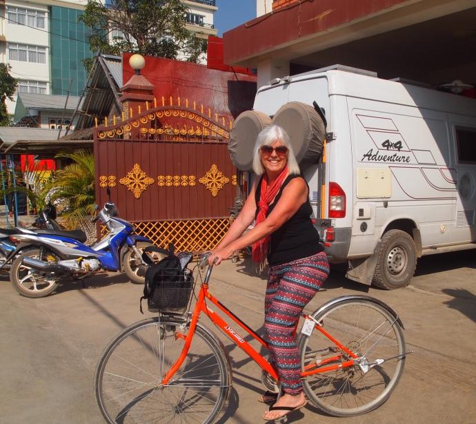 me on my rental bike in Nyaungshwe