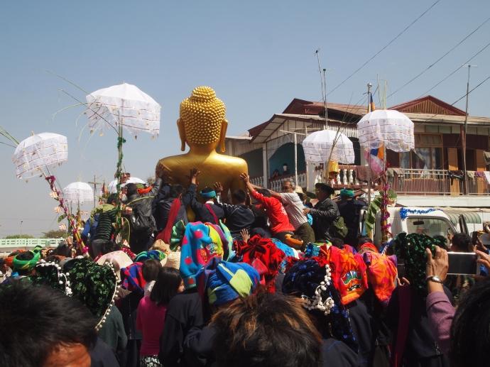 Buddha and Pa-O tribespeople