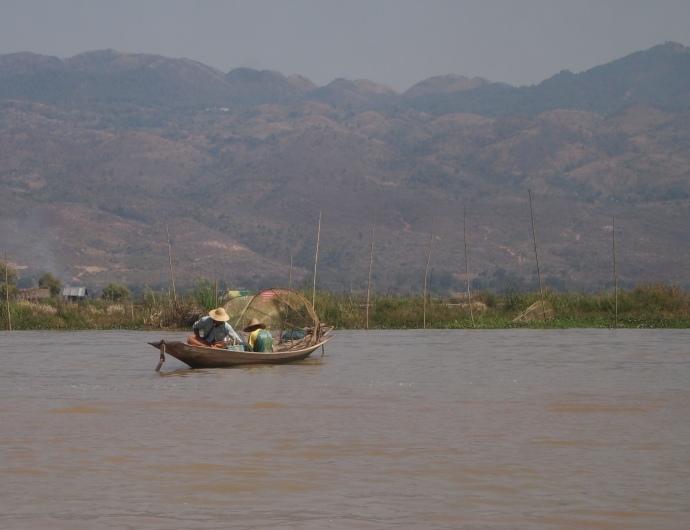 locals on Inle Lake