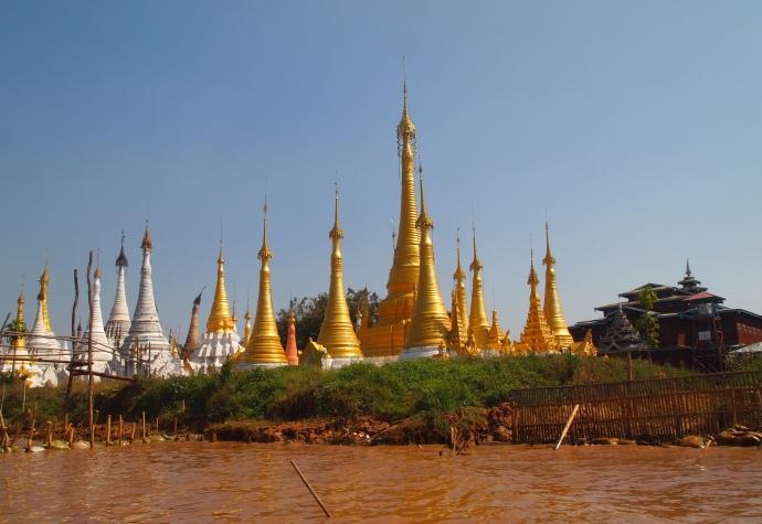 shoreline stupas