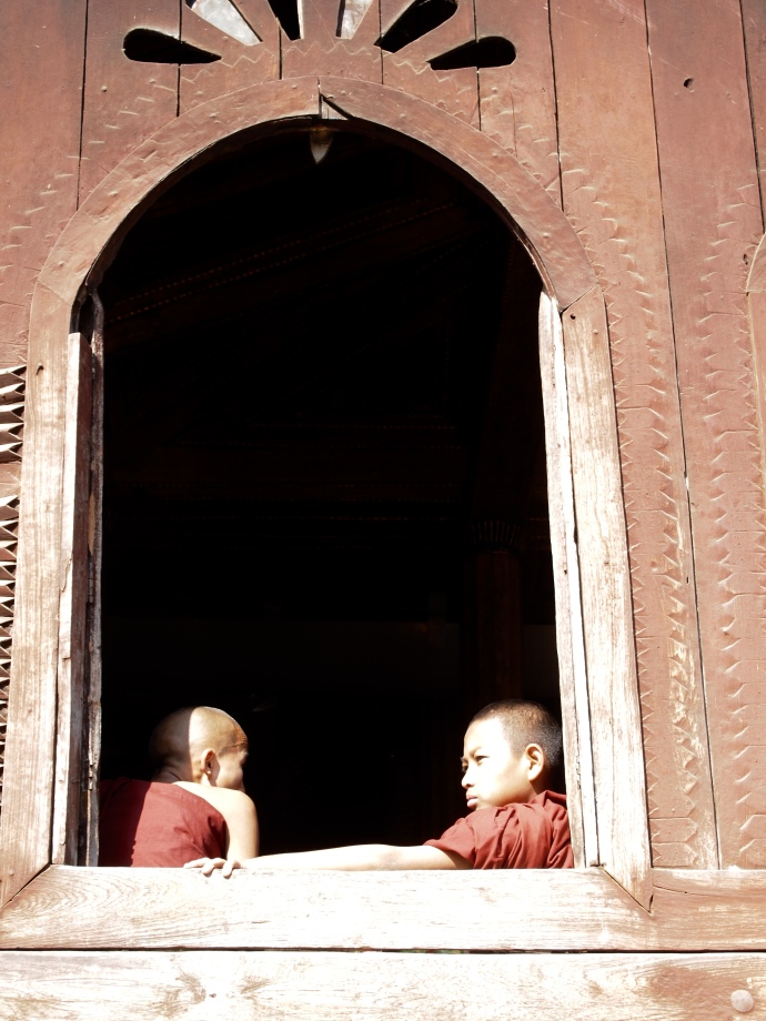 little monks at Shwe Yaunghwe Kyaung