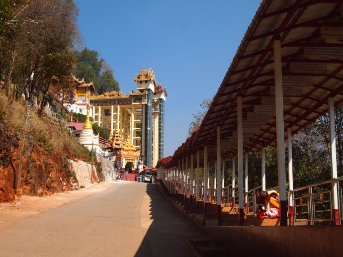 The approach to Shwe Oo Min Natural Cave Pagoda