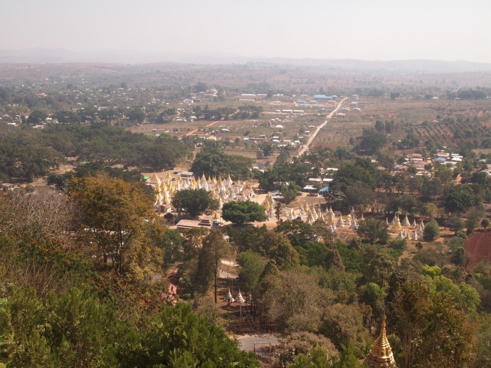 view from Shwe Oo Min Natural Cave Pagoda, Pindaya
