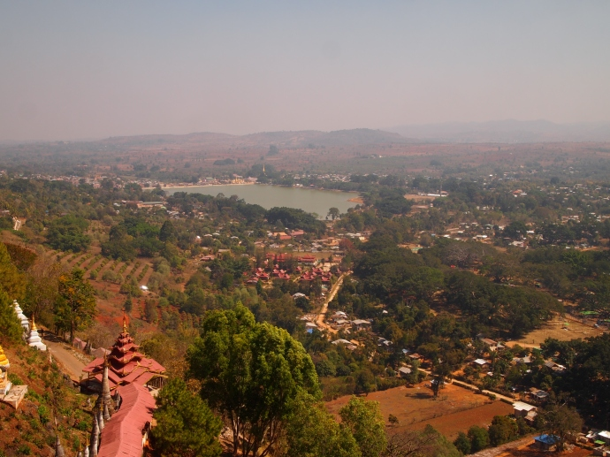 view from Shwe Oo Min Natural Cave Pagoda, Pindaya - Pone Taloke Lake