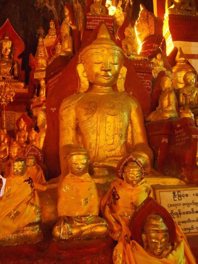 Buddha at Shwe Oo Min Natural Cave Pagoda, Pindaya