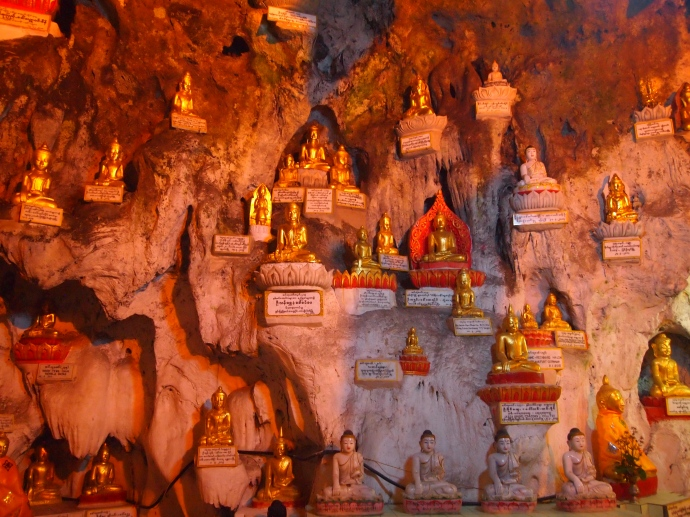 Buddhas in the cave