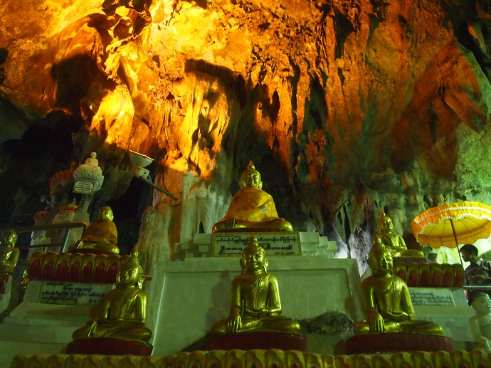 the Pindaya caves