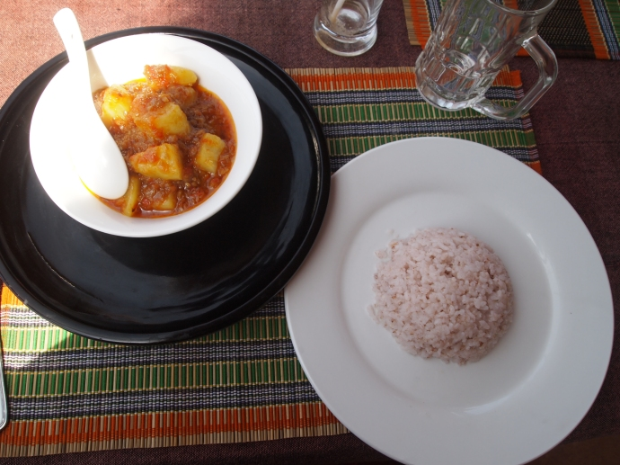 potato curry with rice