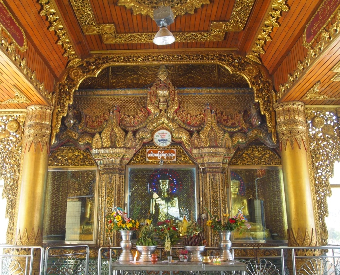 Fancy shrine at Sule Paya
