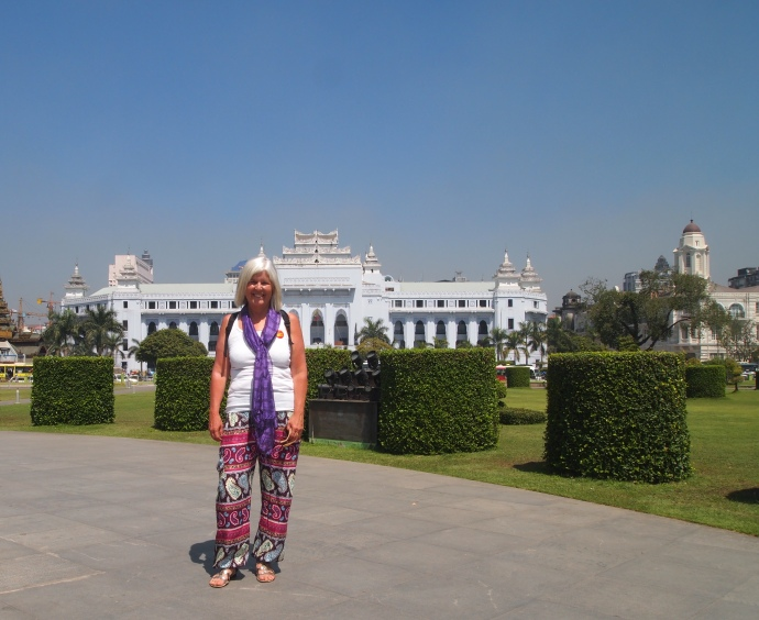 me in Mahabandoola Garden with City Hall behind