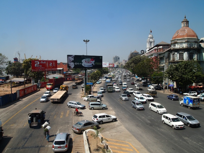 traffic on Strand Road