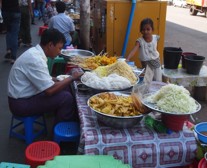 food stall on the street