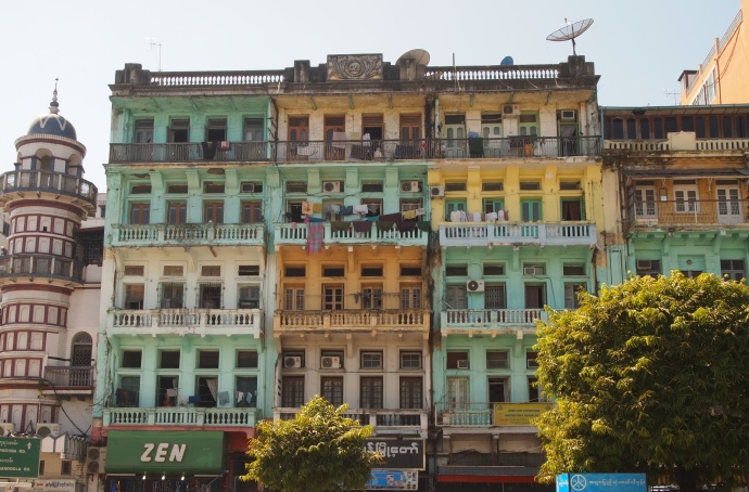 colorful Yangon