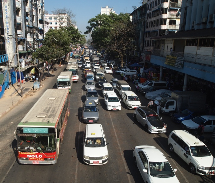 Yangon traffic