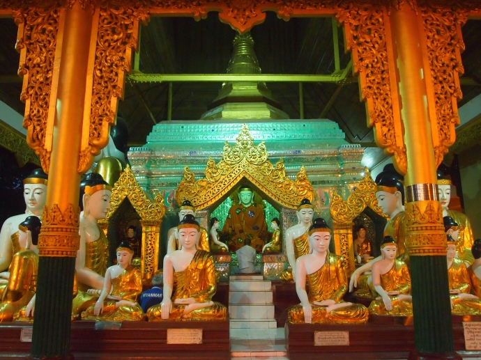 shrine at Shwedagon