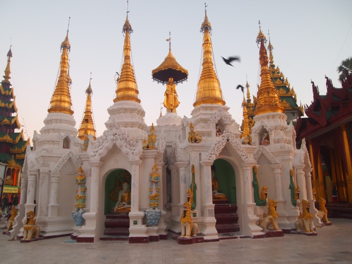 at Shwedagon Pagoda